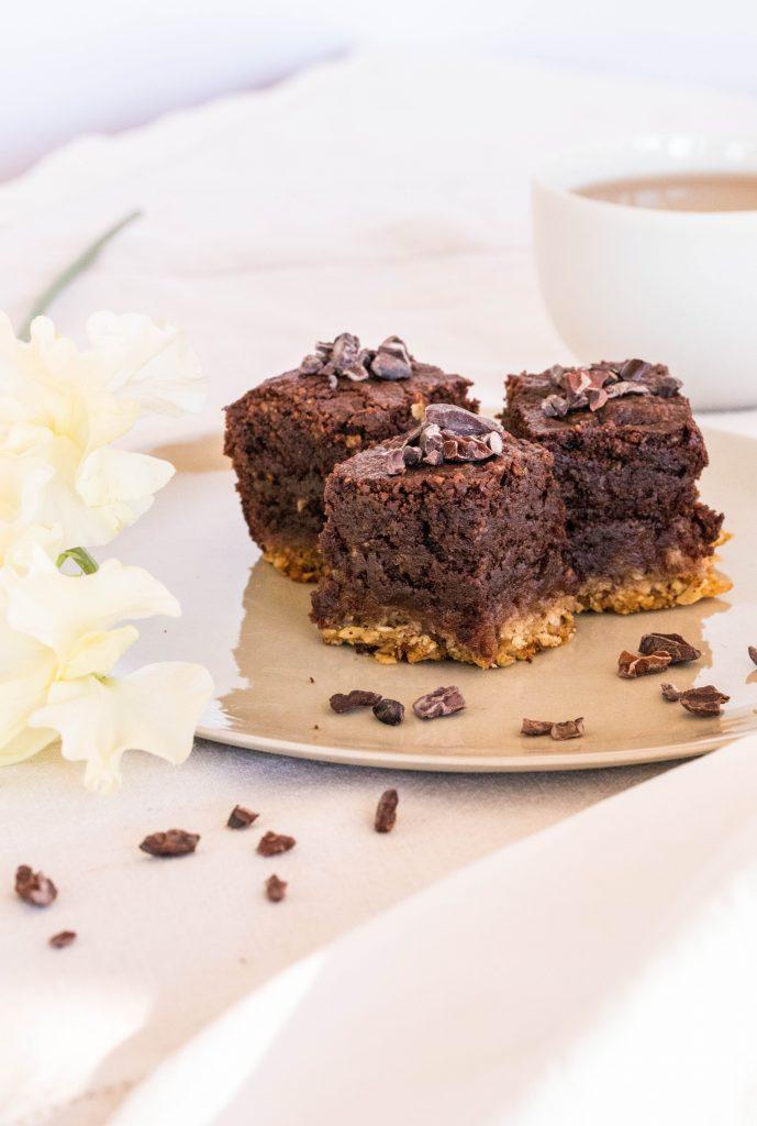 Triple Layered Chocolate Brownies