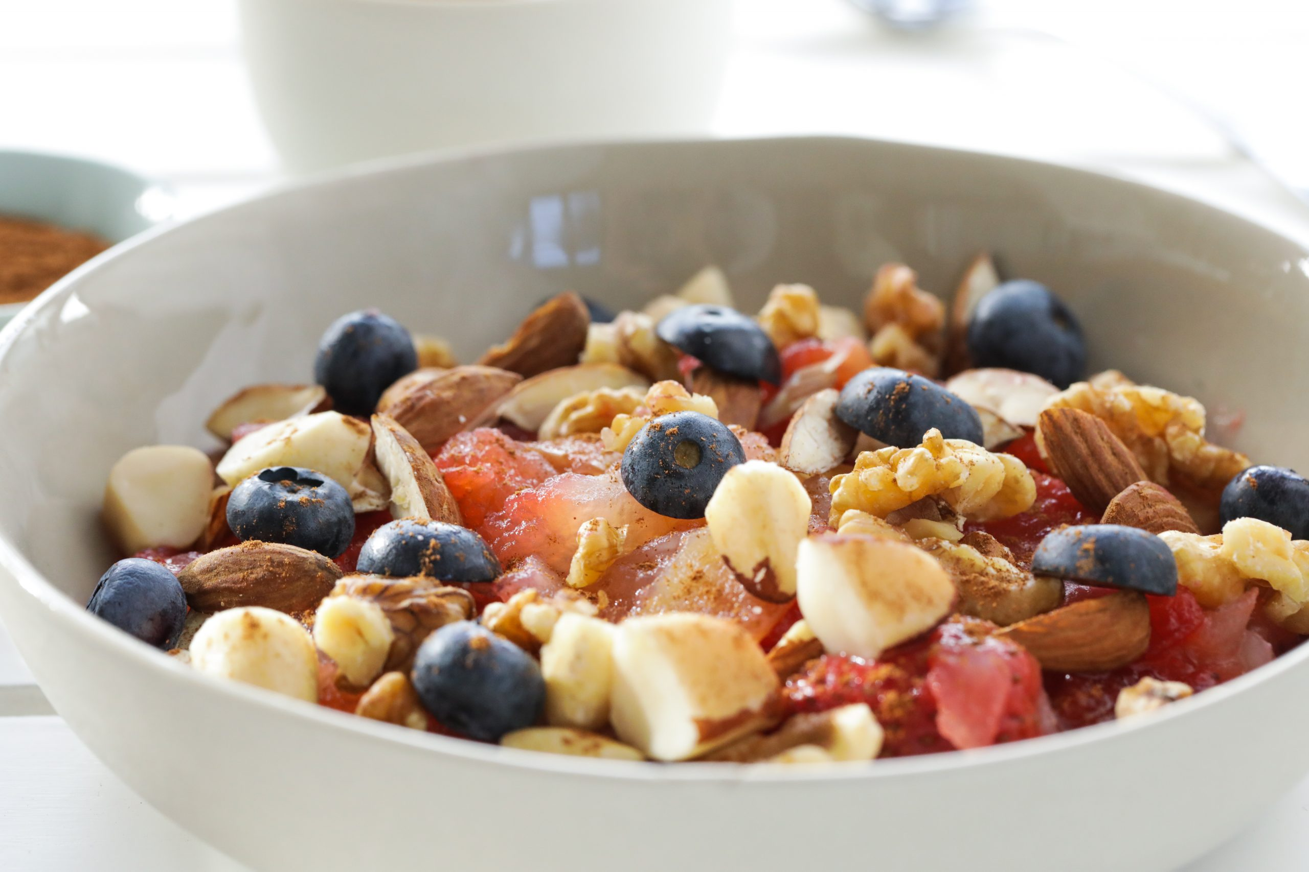 Warm Cinnamon Apple with Berries and Nuts