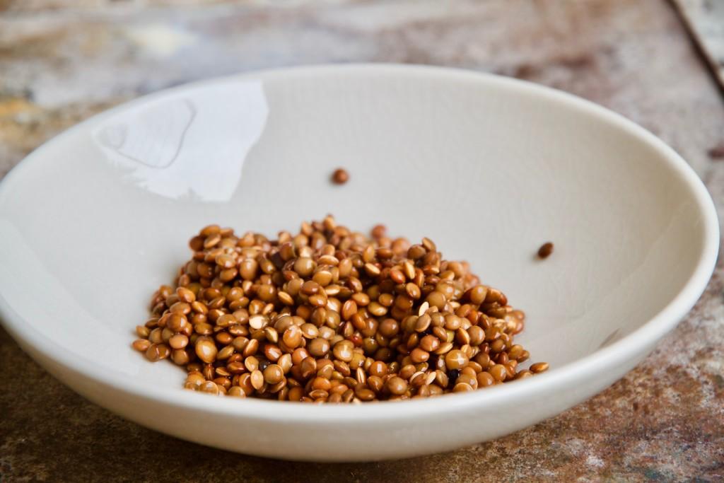 soaked black lentils
